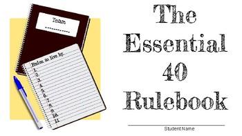 Essential 40 Classroom Rules Rulebook