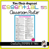 Essential 55 Classroom Poster Inspired by Ron Clark