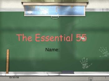 Essential 55 Student Activity