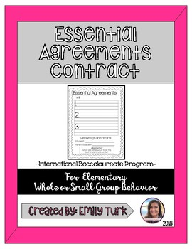Essential Agreements Contract