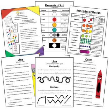 Essential Art Binder: Elements of Art, Principles of Design, & Criticism Bundle