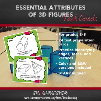 Essential Attributes of 3D Figures - Task Cards