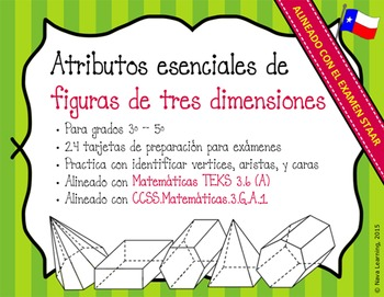 Essential Attributes of 3D Figures - Spanish Task Cards