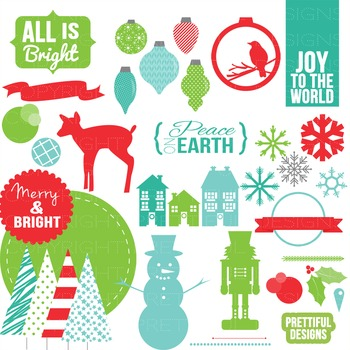 Essential Christmas Clip Art for Christmas Cards, Posters,