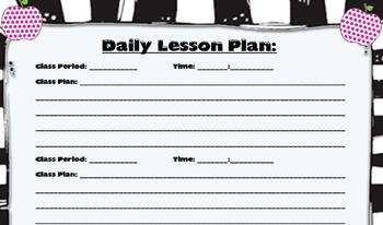 Essential Class/Teacher Forms (Black & White Themed)