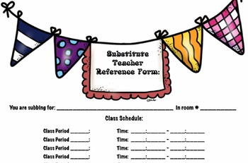 Essential Class/Teacher Forms (Black & White Themed)