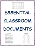 Essential Classroom Documents