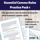 Essential Comma Rules Practice Pack 1
