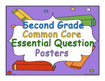 Essential Common Core Question Posters for Second Grade