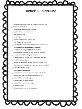 Essential Documents Every Special Ed teacher Should Have