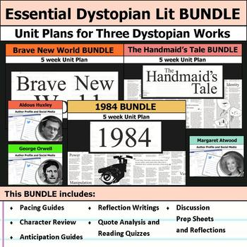 Essential Dystopian Literature Unit - 1984, Brave New Worl