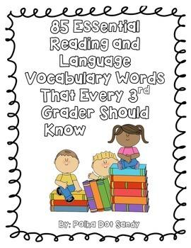 Essential ELA Vocabulary Words for 3rd Grade - Common Core Aligned