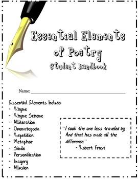 Essential Elements of Poetry - Student Handbook