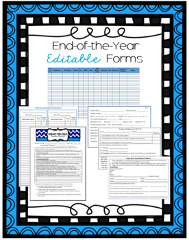 Essential End-of-the-Year Forms (Bundle)