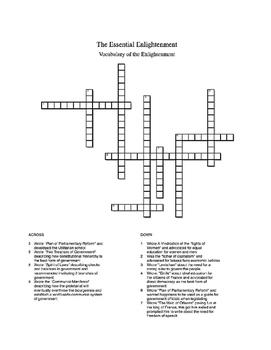 Essential Enlightenment Crossword