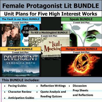 Essential Female Protagonist Literature Unit Bundle
