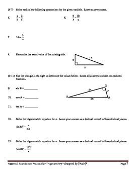 Essential Foundation Practice for Trigonometry