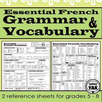 Essential French Grammar and Vocabulary: Reference and Review