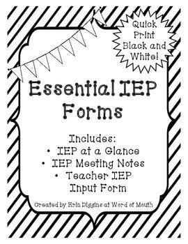 Essential IEP Forms