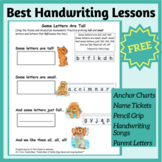 Essential Kindergarten Handwriting Lesson Sample FREE