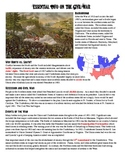 Civil War Essential Knowledge Worksheet