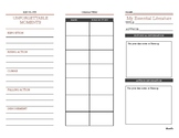 Literary Merit Book Notes Bookmark Pamphlet