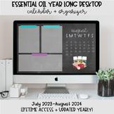 Essential Oil Desktop Organization Wallpaper + Calendar