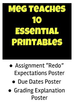 Essential Printables