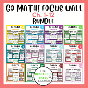 Essential Question/Objectives Posters (3rd Grade- Go Math!) GROWING Bundle!