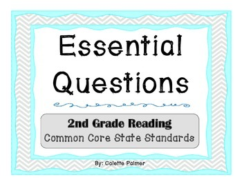 Essential Question Posters- 2nd Grade Reading Common Core State Standards