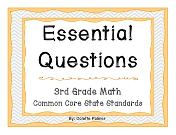 Essential Question Posters - 3rd Grade Math Common Core State Standards