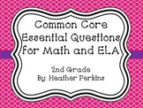 Essential Question Posters for Math and Reading {2nd Grade}