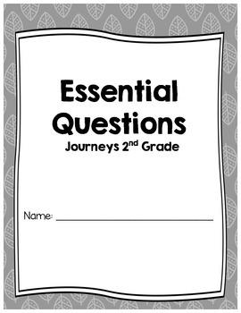 Essential Question Student Response Sheets, Journeys, Grade 2, Unit 1-6 BUNDLE