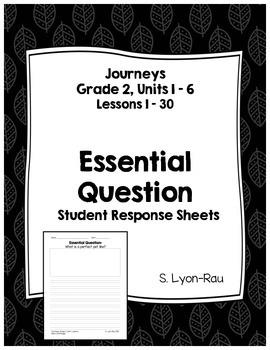 Essential Question Student Response Sheets, Journeys, Grad