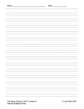 Essential Question Student Response Sheets - Journeys, Grade 2, Unit 2 - BUNDLE