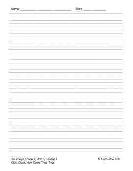 Essential Question Student Response Sheets - Journeys, Grade 2, Unit 3 - BUNDLE