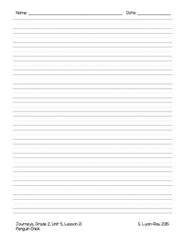 Essential Question Student Response Sheets - Journeys, Grade 2, Unit 5 - BUNDLE
