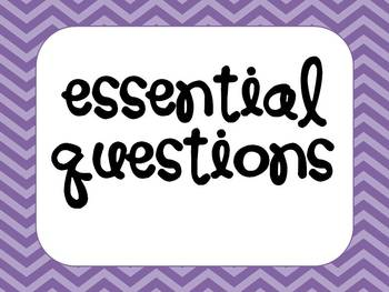 Essential Question Subject Headers