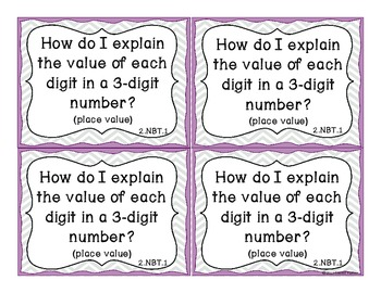 Essential Question Task Cards - 2nd Grade Math Common Core State Standards