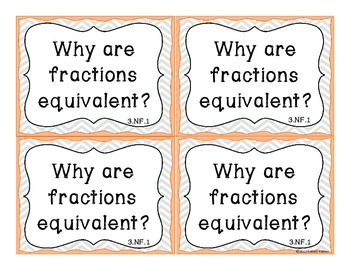 Essential Question Task Cards- 3rd Grade Math Common Core State Standards