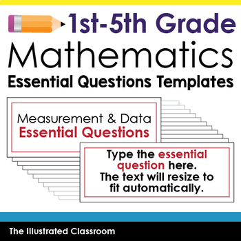 Essential Question Templates for 1st - 5th Grade Math