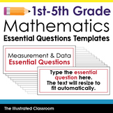 Essential Question Templates for 5th Grade Math