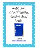 Essential Question and Concept Chart Labels PRINTABLE