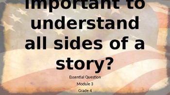 Essential Question and Focusing Questions Grade 4 Module 3 Wit and Wisdom