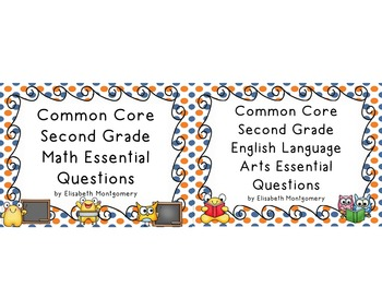 Essential Questions 2nd Gr Common Core Language Arts and Math Orange Blue Dots