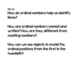 Essential Questions 2nd Grade Math