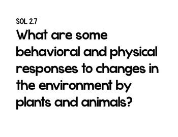 Essential Questions 2nd Grade Science
