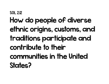Essential Questions 2nd Grade Social Studies