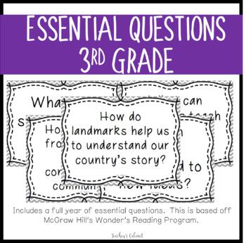 Essential Questions {3rd Grade}