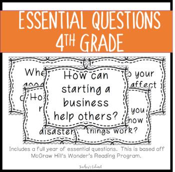 Essential Questions {4th Grade}